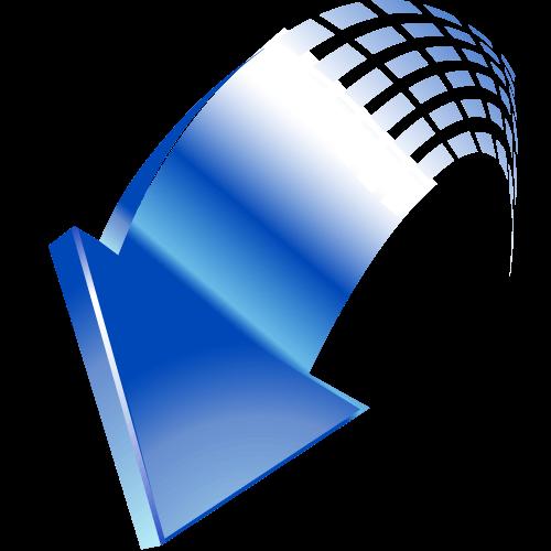 blue-down-arrow