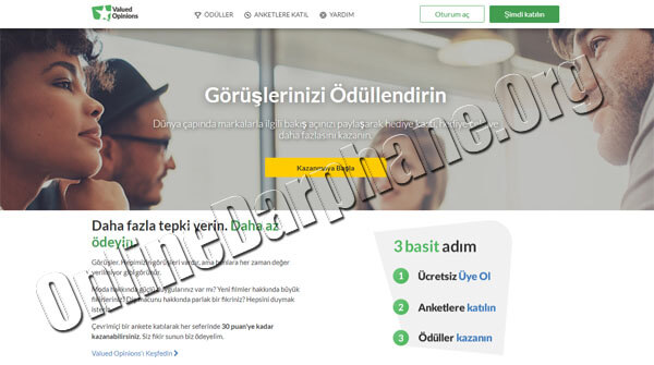 Anket Doldurarak Para Kazanma Sitesi - Valued Opinions TR